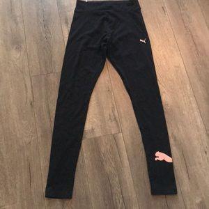 PUMA Black Cotton Leggings